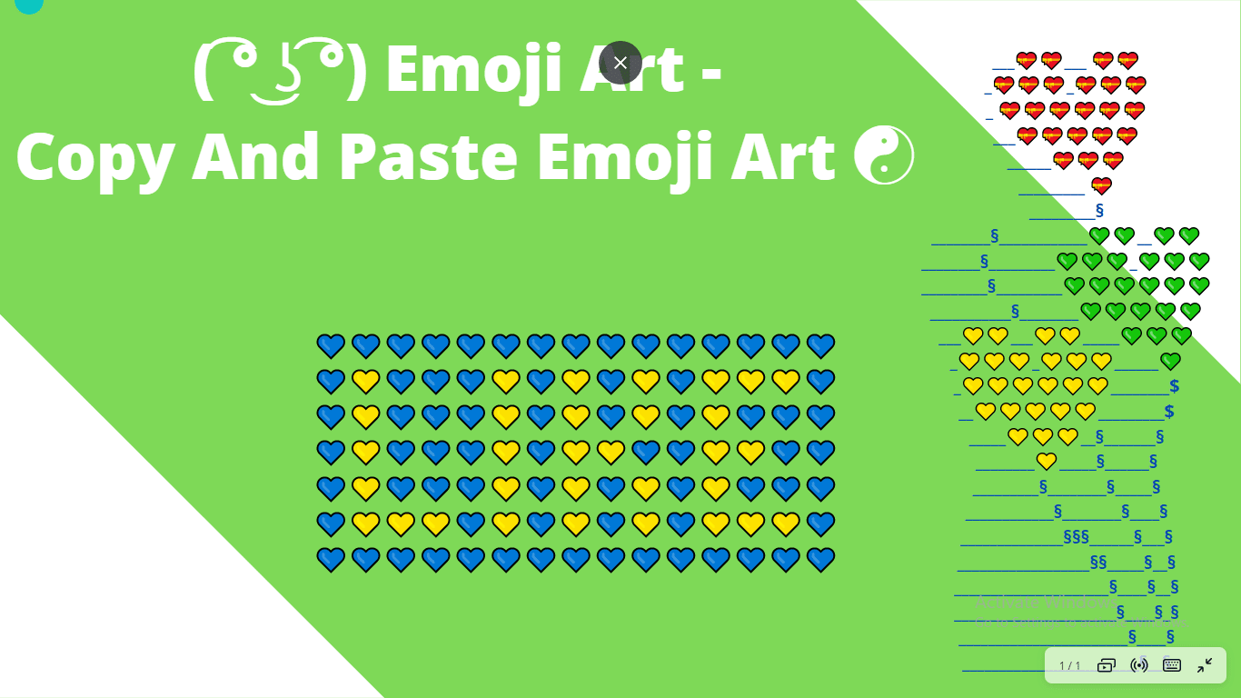 copy and paste emoji art