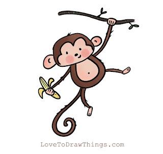 Easy monkey to draw. How to draw a monkey