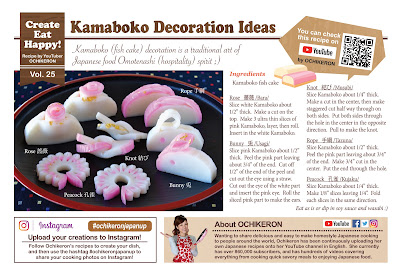 Kamaboko (Fish Cake) Decoration Ideas (Kazarigiri)