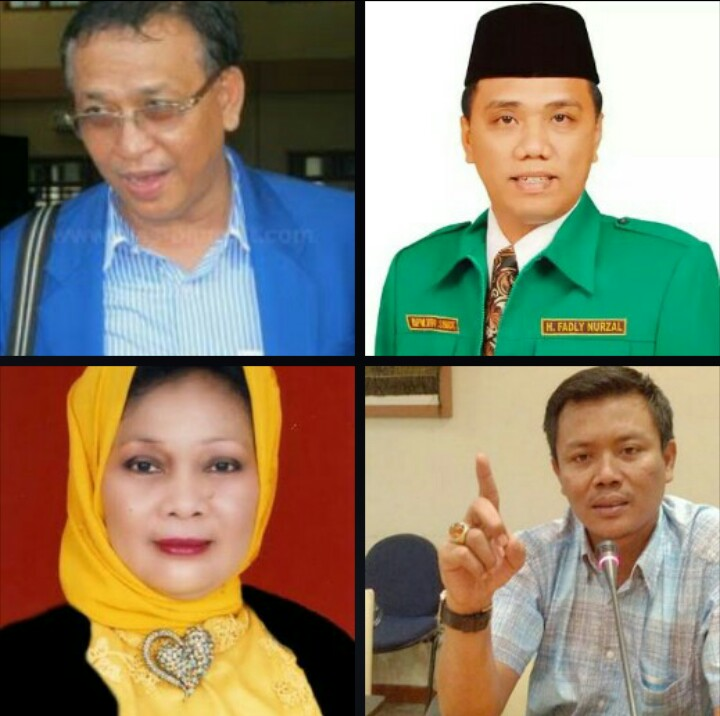 Dari atas ke bawah: Jhon Hugo Silalahi, Fadli Nurzal, Helmiati, Muslim Simbolon