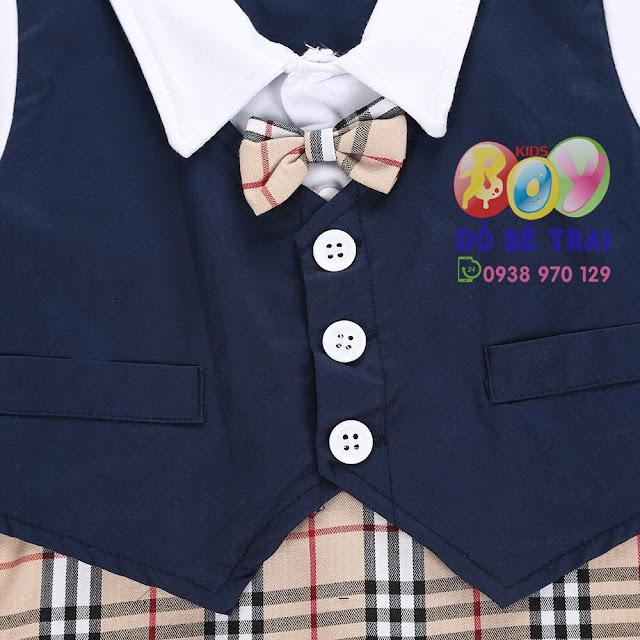 Bộ vest cho bé trai, quần kẻ sọc chuẩn Châu Âu và Mỹ