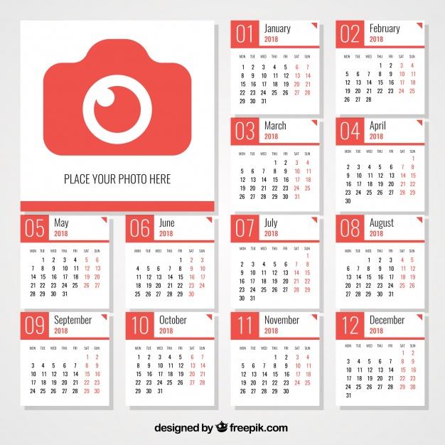 calendarios 2018 gratis de pared editable