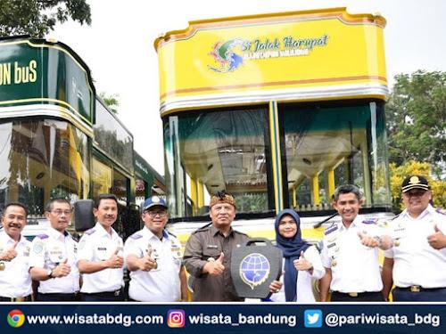 Rute bus wisata si Jalak Harupat Kabupaten Bandung