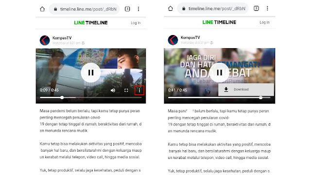 Download video LINE di browser