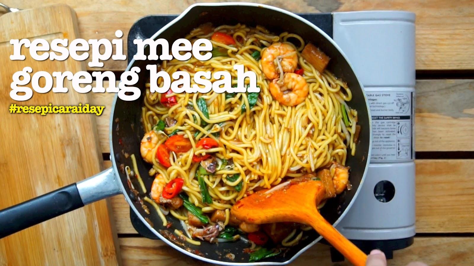resepi mee goreng basah  mudah  sedap video Resepi Mee Goreng Ratna Enak dan Mudah