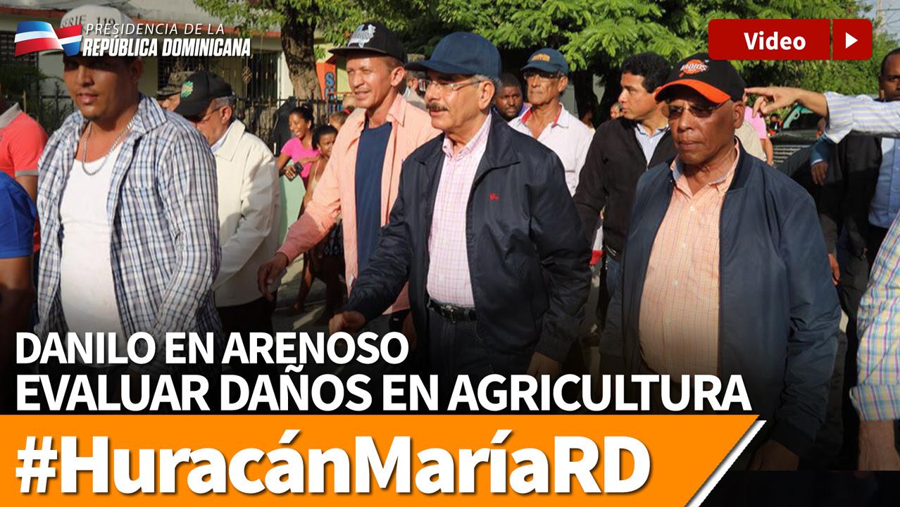 VIDEO: Danilo en Arenoso evalúa daños en agricultura