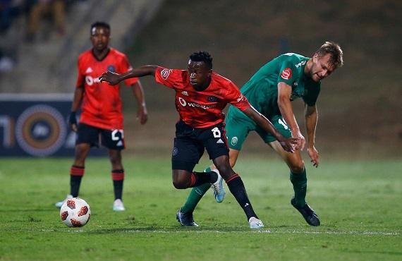 Orlando Pirates midfielder Siphesihle Ndlovu