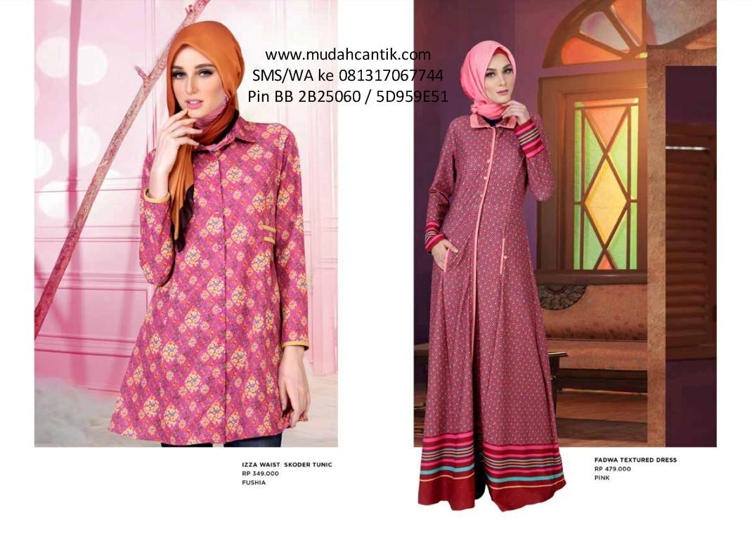 Gamis lebaran baju muslim hari raya idul fitri katalog zoya Baju gamis zoya