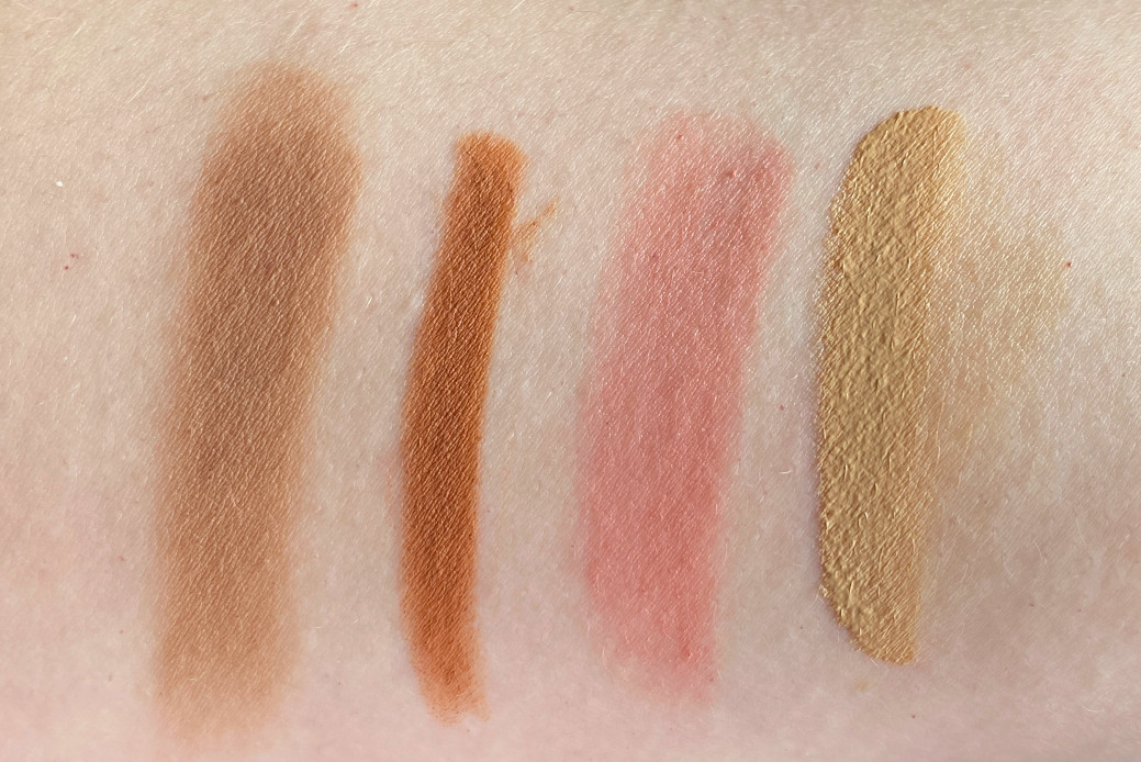 abh warm taupe vieve camel nars unrestricted it cosmetics cc light swatches