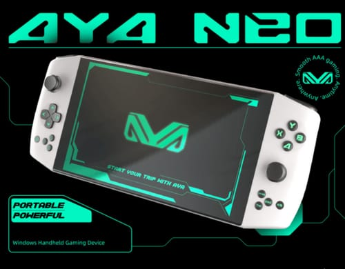 Aya Neo: Gaming laptop is now available on Indiegogo