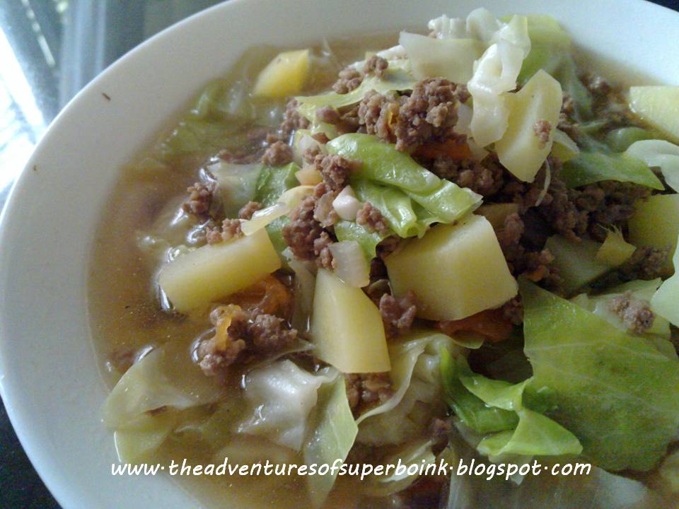 Pinoy Picadillo (Minced Beef Soup)
