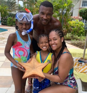 Danielle Isaie with her hubby and kids