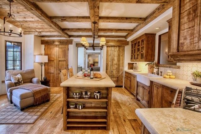 Diseños de cocinas rústicas - Colores en Casa