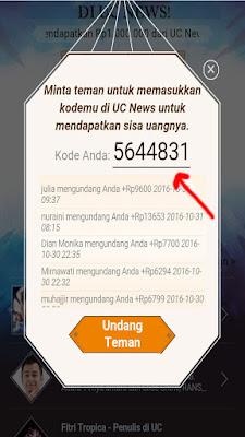 Gambar Cara Mendapatkan Uang Rp 1 Juta dari UC News