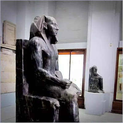 The diorite statue of Khafre - The famous ancient Egyptian statue