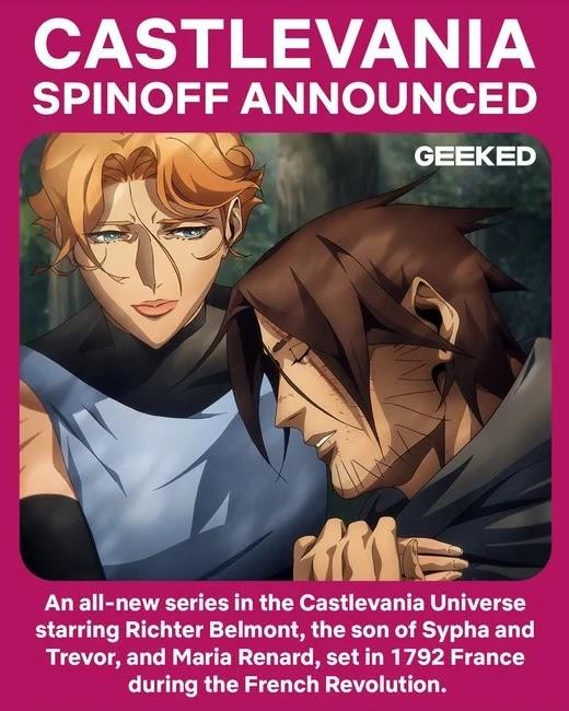 Nueva serie de Castlevania con Richter Belmont y Maria Renard.