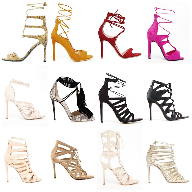 Ioanna's Notebook - Fashion Trends: Lace Up Sandals Shopping Picks