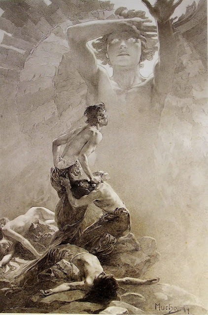 Альфонс Муха - Отче наш (4). 1899
