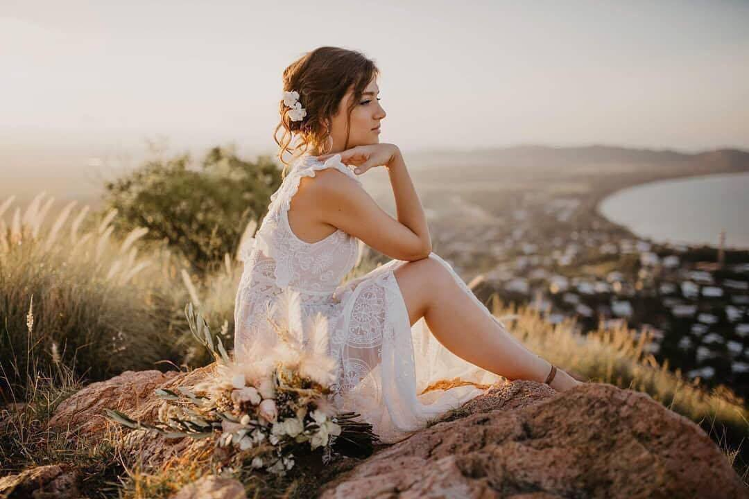 boho wedding hair townsville photography hairstylist bridal