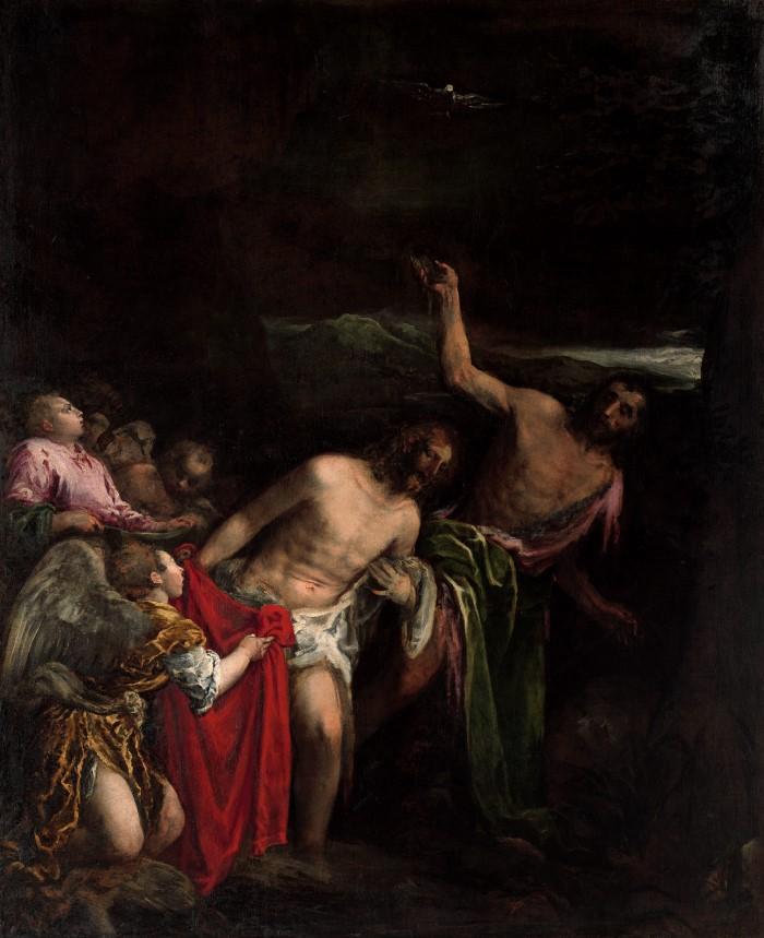 The Baptism of Christ Artist Jacopo Bassano (Custom)