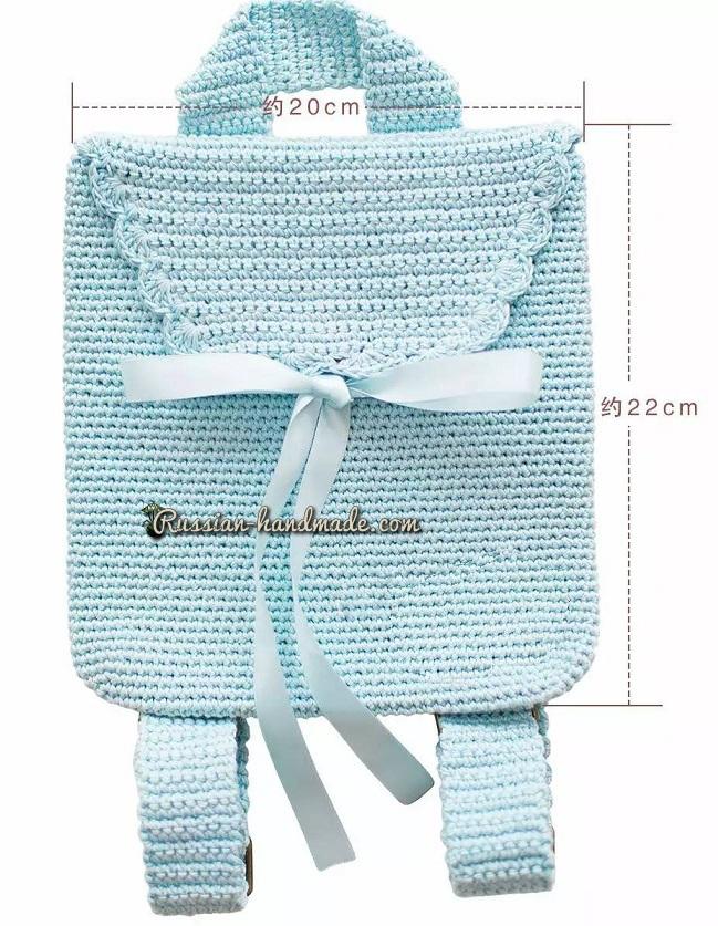 Размер готовой сумочки-рюкзачка - 22 х 20 см