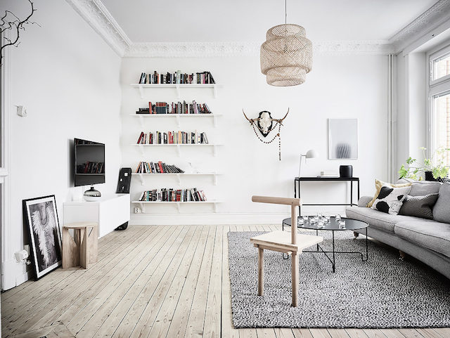 my scandinavian home a calm swedish home in grey and white. Black Bedroom Furniture Sets. Home Design Ideas