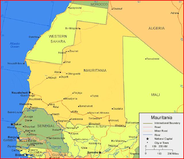 image: Map of Mauritania