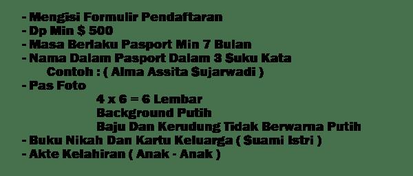 Persyaratan Paket Umroh Desember 2018