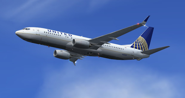 United Boeing 737 800 Scimitar - Year of Clean Water