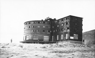 The Campo Imperatore Hotel at the time of the raid.