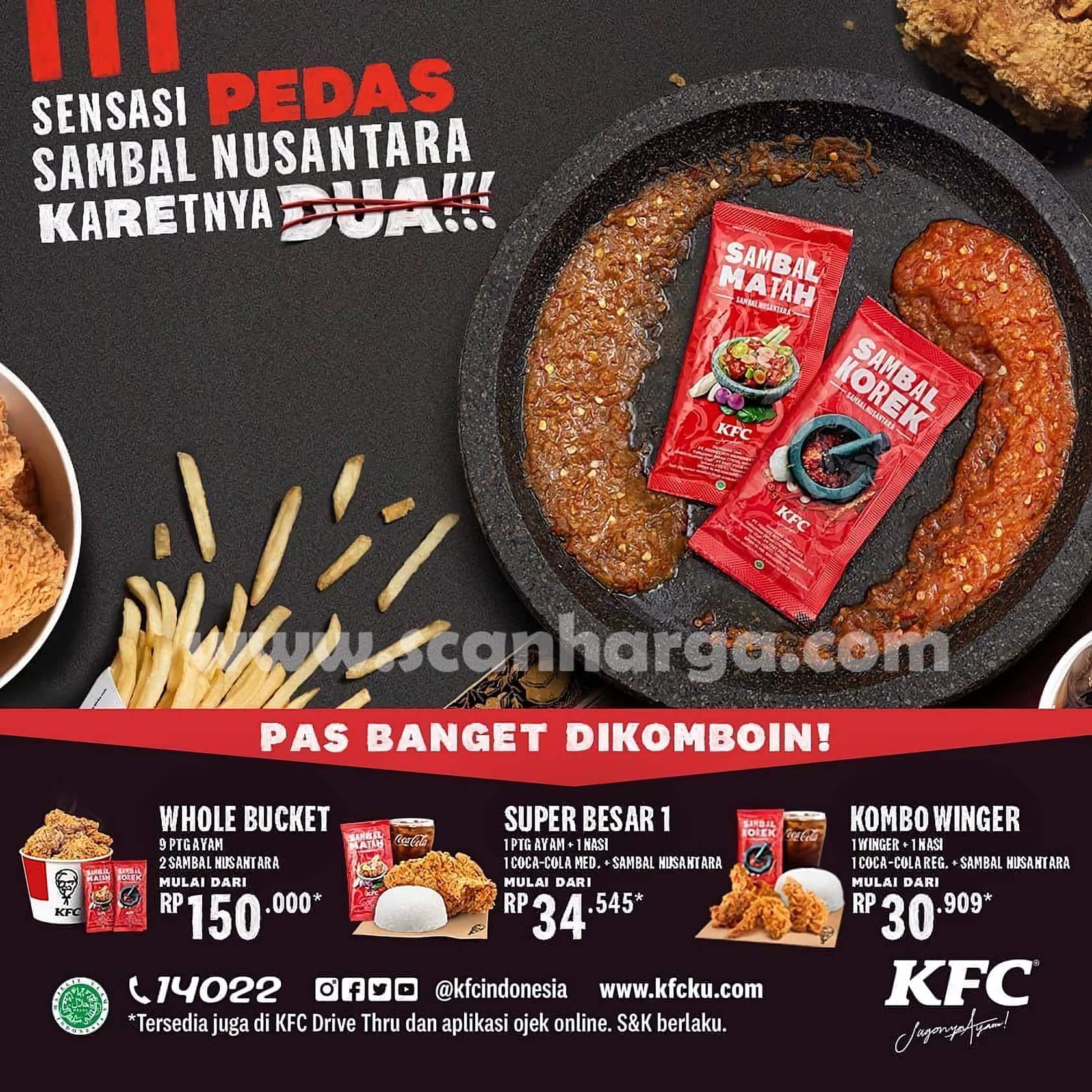 KFC Promo Sambal Karetnya 2 (Sambal Matah / Korek) harga Hanya 5.500