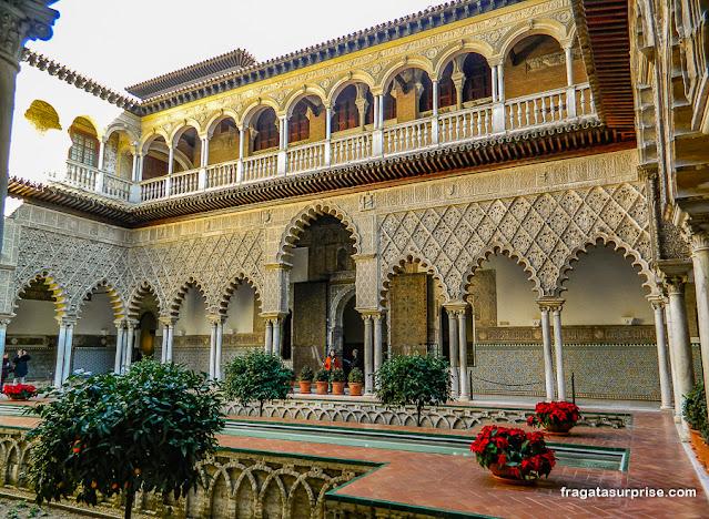Pátio das Donzelas, cenário de Game of Thrones no Real Alcázar de Sevilha