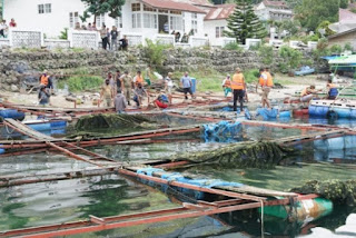 Keramba Jaring Apung di Haranggaol Danau Toba Ditertibkan