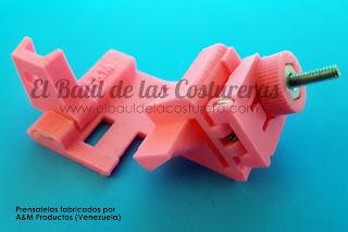 Pie de máquina casera para coser sesgo elástico en un solo paso