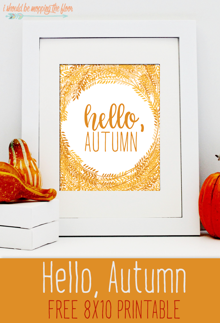 Hello, Autumn Free Printable | 8X10 Printable | Instant Download