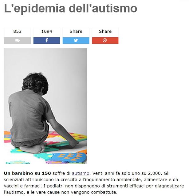 Articolo Grillo vaccini causano autismo