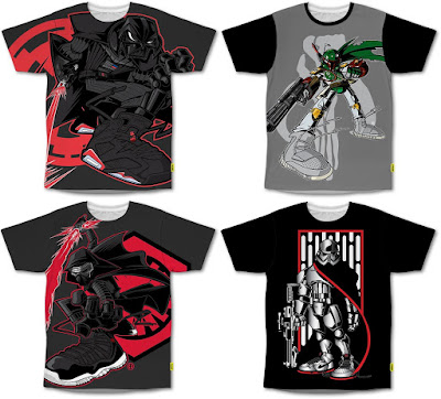 """Star Wars in Sneakers"" T-Shirt Collection by Tracy Tubera x Yoshirt - Darth Vader, Boba Fett, Kylo Ren & Captain Phasma"