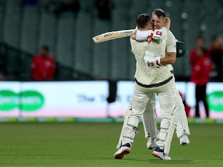 Australia declared its innings ended at a score of 589 runs