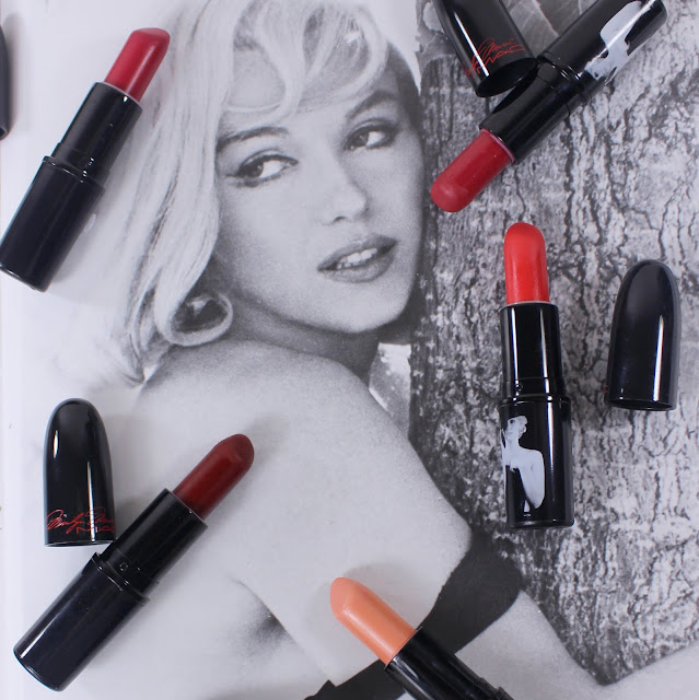 MAC MONDAY | MAC X Marilyn Monroe Lipsticks swatches & Review