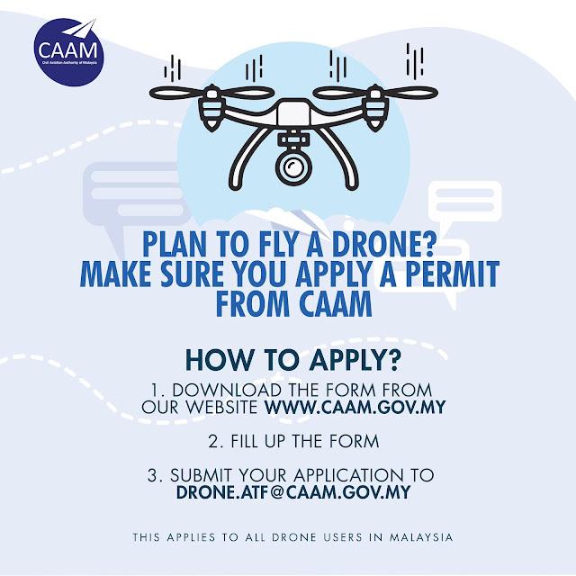 Sekarang Nak Terbangkan Drone Kena Ada Permit! Ikuti Langkah Dan Cara Memohon Daripada CAAM