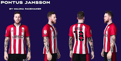 PES 2021 Faces Pontus Jansson by Maijna
