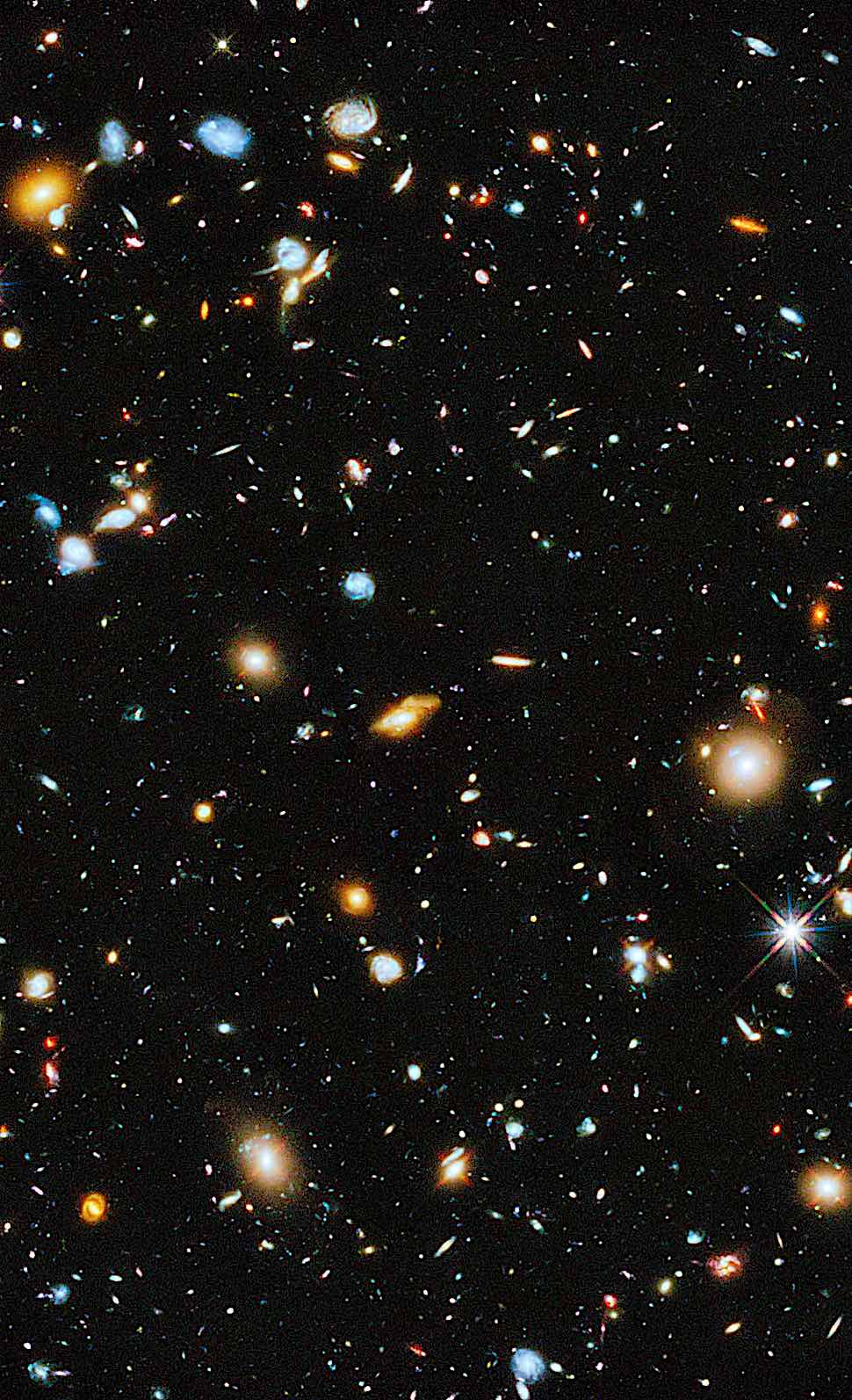the Hubble telescope, a photograph of space