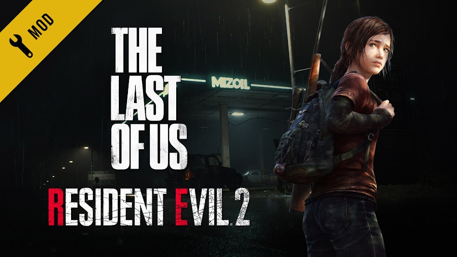 resident evil 2 remake tlou ellie skin the last of us mod capcom naughty dog