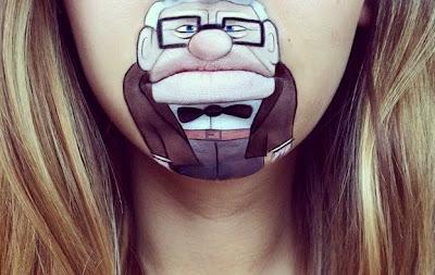 Mr. Fredricksen de up cobra vida en el rostro de una mujer