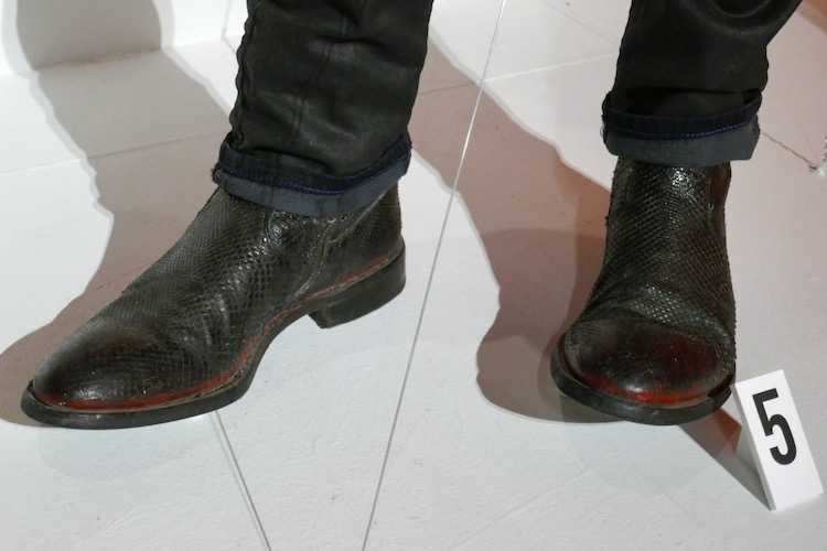 Good Omens Crowley snakeskin shoes