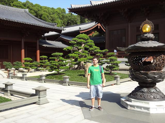 En el templo Chi Lin de Kowloon