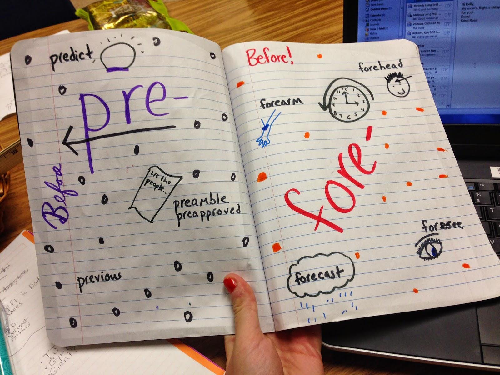 Glitter In Third Vocabulary Notebooks
