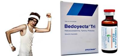 Inyectarse bedoyecta y complejo b puede ayudar a recuperar los músuclos