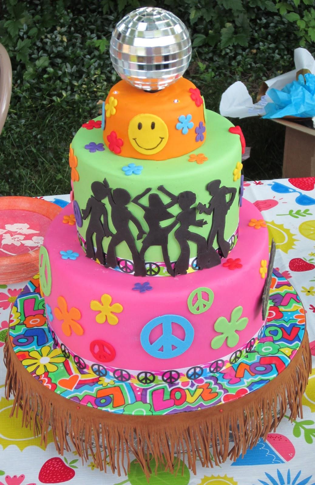 J S Cakes 70s Birthday Cake