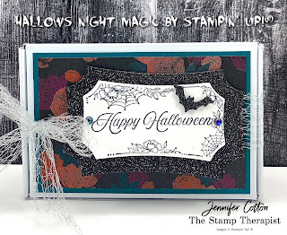 Stampin' Up!'s Hallows Night Magic Bundle and Mini Paper Pumpkin Box!  Check out the blog for video link and supplies list!  #StampTherapist #StampinUp